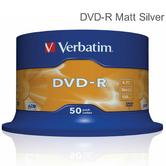 Verbatim 43548 4.7GB 16x Speed 120min Recordable DVD-R Matt Silver Disc | 50 Pack Spindle | Superior Life DVD