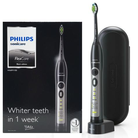 Philips Sonicare FlexCare Sonic Electric Rechargeable Toothbrush HX6911/50 - BLACK Thumbnail 1
