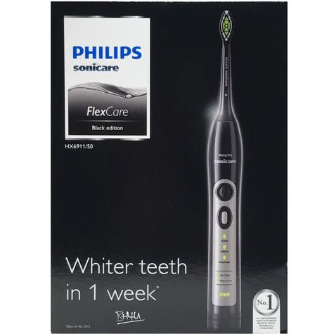 Philips Sonicare FlexCare Sonic Electric Rechargeable Toothbrush HX6911/50 - BLACK Thumbnail 5
