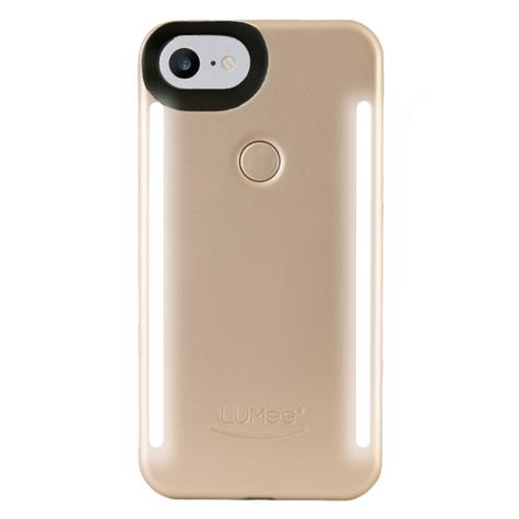 LuMee Duo LED Phone Selfie Case For iPhone 6/6S/7/8|Slim & Sleek|LD-IP7-GOLDMT|Gold Matte Thumbnail 1
