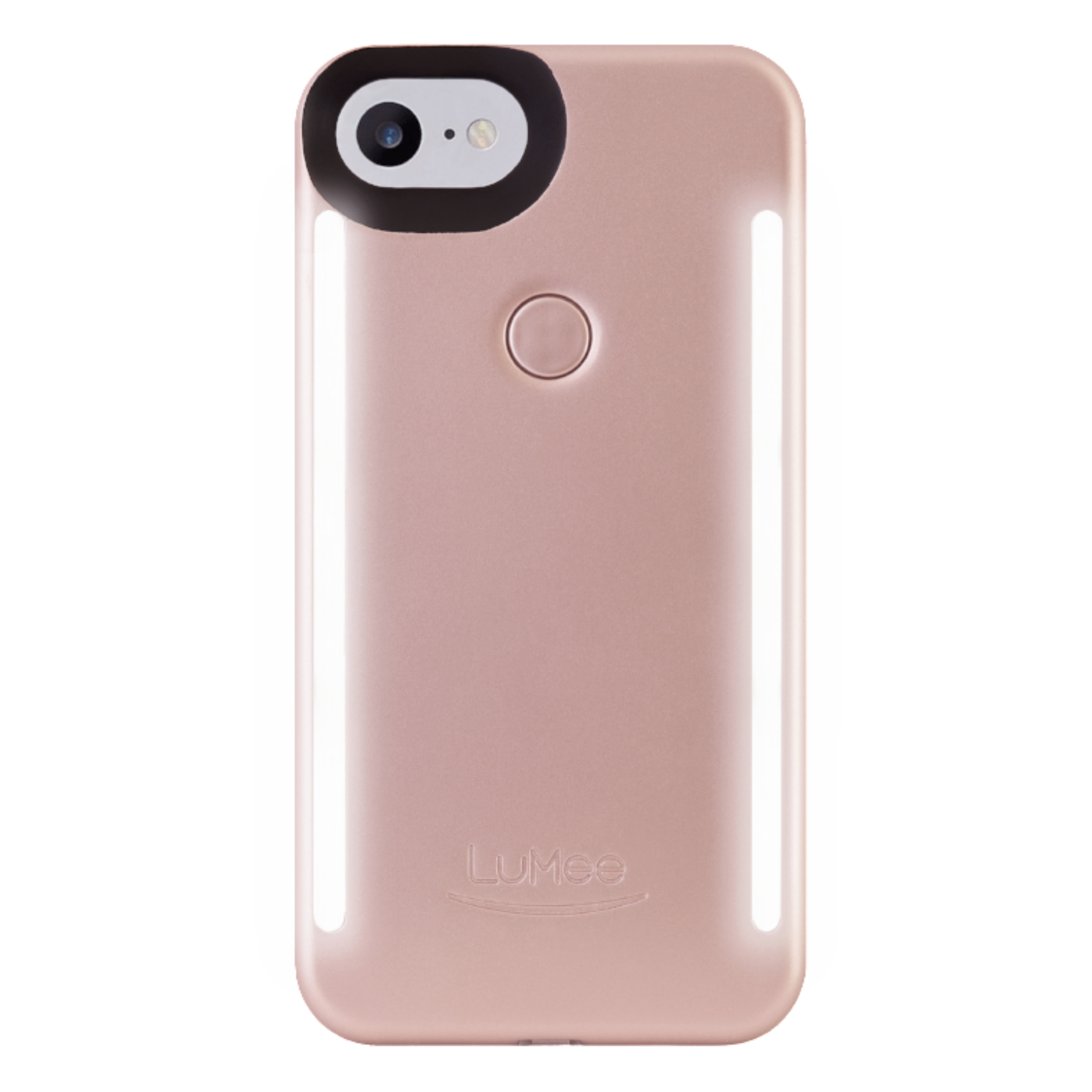 LuMee Duo LED Phone Selfie Case For iPhone 6/6S/7/8|Slim & Sleek|LD-IP7-ROSEMT|Gold Rose Matte