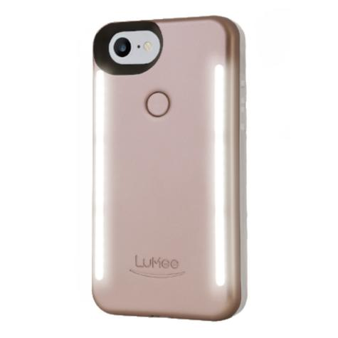 LuMee Duo LED Phone Selfie Case For iPhone 6/6S/7/8|Slim & Sleek|LD-IP7-ROSEMT|Gold Rose Matte Thumbnail 2