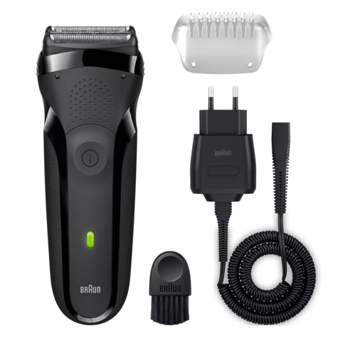 Braun Series3 300s Men Electric Clean Shaver|Rechargeable|Waterproof|Black|NEW Thumbnail 1