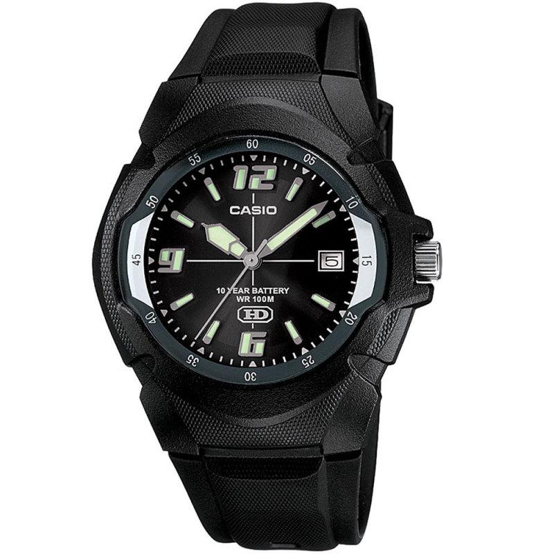 Casio MW600F-1AVER Men's Enticer Series Watch|100M Water Resistance|Resin|Black|