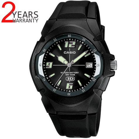 Casio MW600F-1AVER Men's Enticer Series Watch|100M Water Resistance|Resin|Black| Thumbnail 1