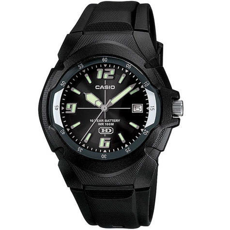 Casio MW600F-1AVER Men's Enticer Series Watch|100M Water Resistance|Resin|Black| Thumbnail 2