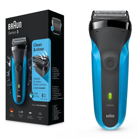 Braun 310s Series 3 Mens Electric Face Stubble Shaver Rechargeable Wet & Dry Use Thumbnail 2