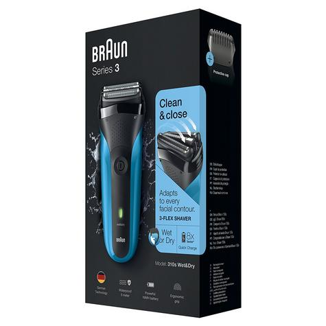 Braun 310s Series 3 Mens Electric Face Stubble Shaver|Rechargeable|Wet & Dry Use Thumbnail 7