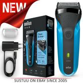 Braun 310s Series 3 Mens Electric Face Stubble Shaver|Rechargeable|Wet & Dry Use