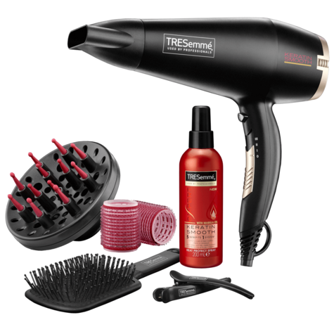 TRESemme Keratin Smooth Blow-Dry Collection| Hair Dryer 2200W Gift Set| 5543BU NEW Thumbnail 1