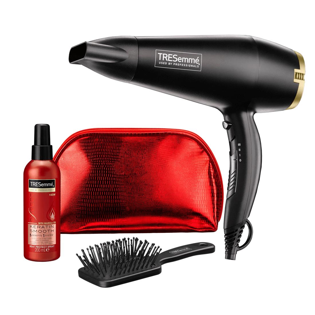 Tresemme Luxurious Hair Dryer Set | Keratin Smooth Heat | Paddle Brush | 2200W | 5543FGU