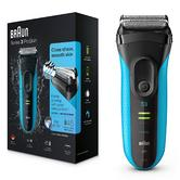 Braun 3040S Series 3 ProSkin Wet & Dry Use Electric Rechargeable Shaver - Blue