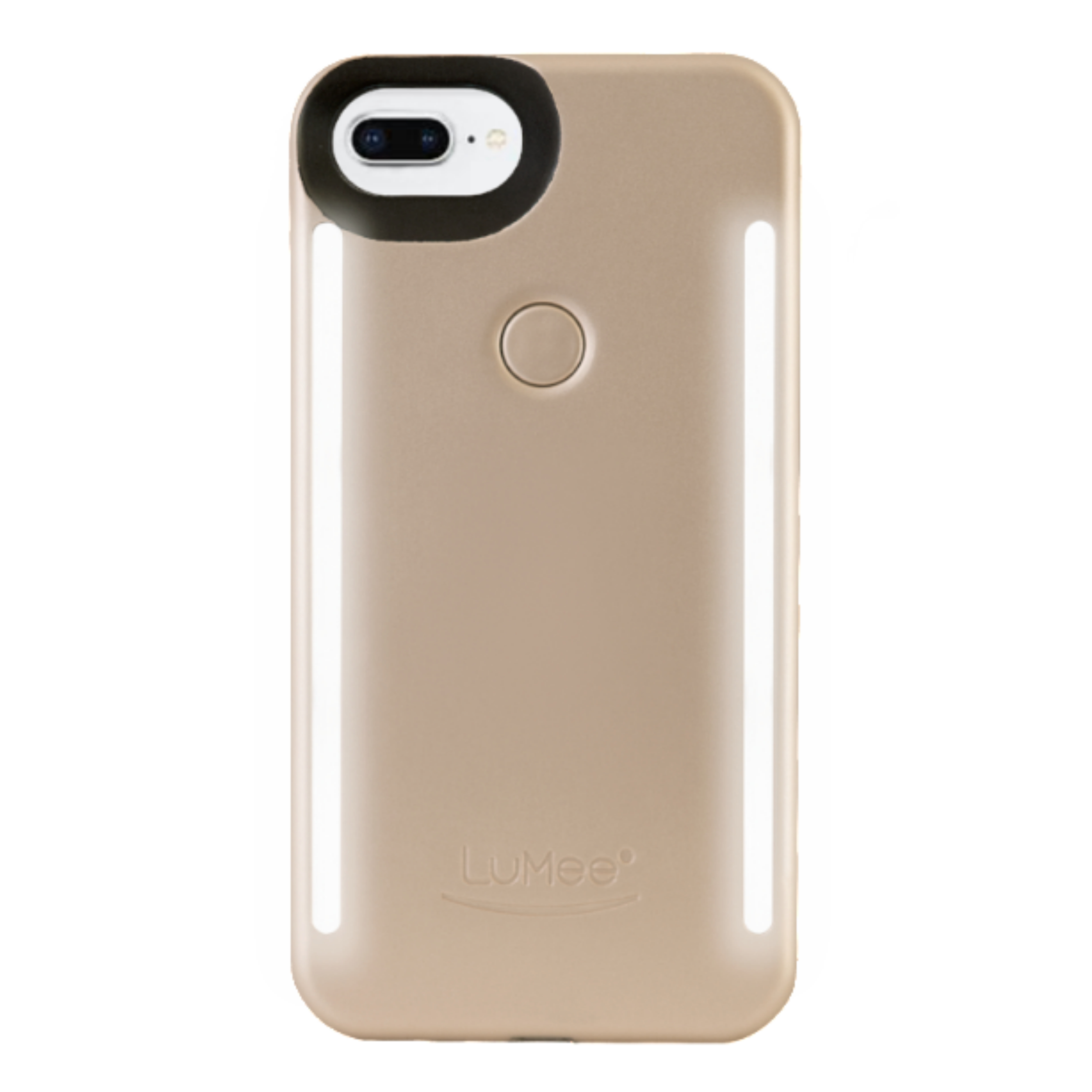 LuMee Duo LED Phone Selfie Case For iPhone 6/6S/7/8 Plus|Soft-Slim-Sleek|Matte Gold