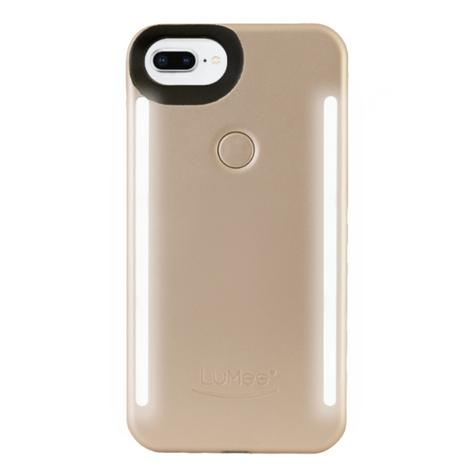 LuMee Duo LED Phone Selfie Case For iPhone 6/6S/7/8 Plus|Soft-Slim-Sleek|Matte Gold Thumbnail 1