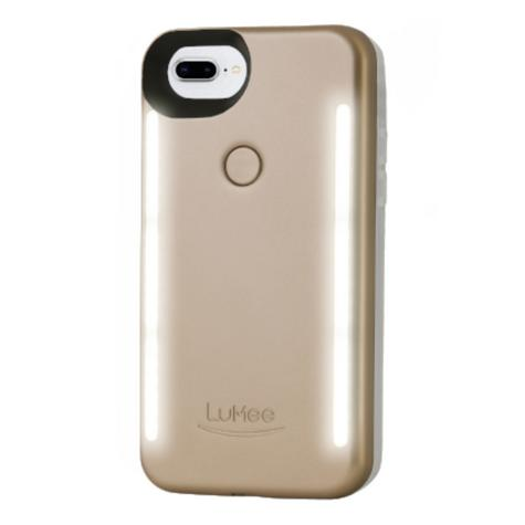 LuMee Duo LED Phone Selfie Case For iPhone 6/6S/7/8 Plus|Soft-Slim-Sleek|Matte Gold Thumbnail 2