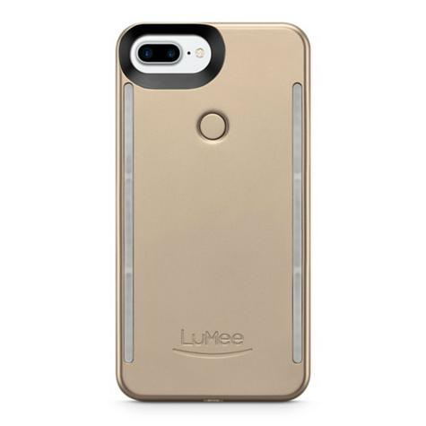 LuMee Duo LED Phone Selfie Case For iPhone 6/6S/7/8 Plus|Soft-Slim-Sleek|Matte Gold Thumbnail 3