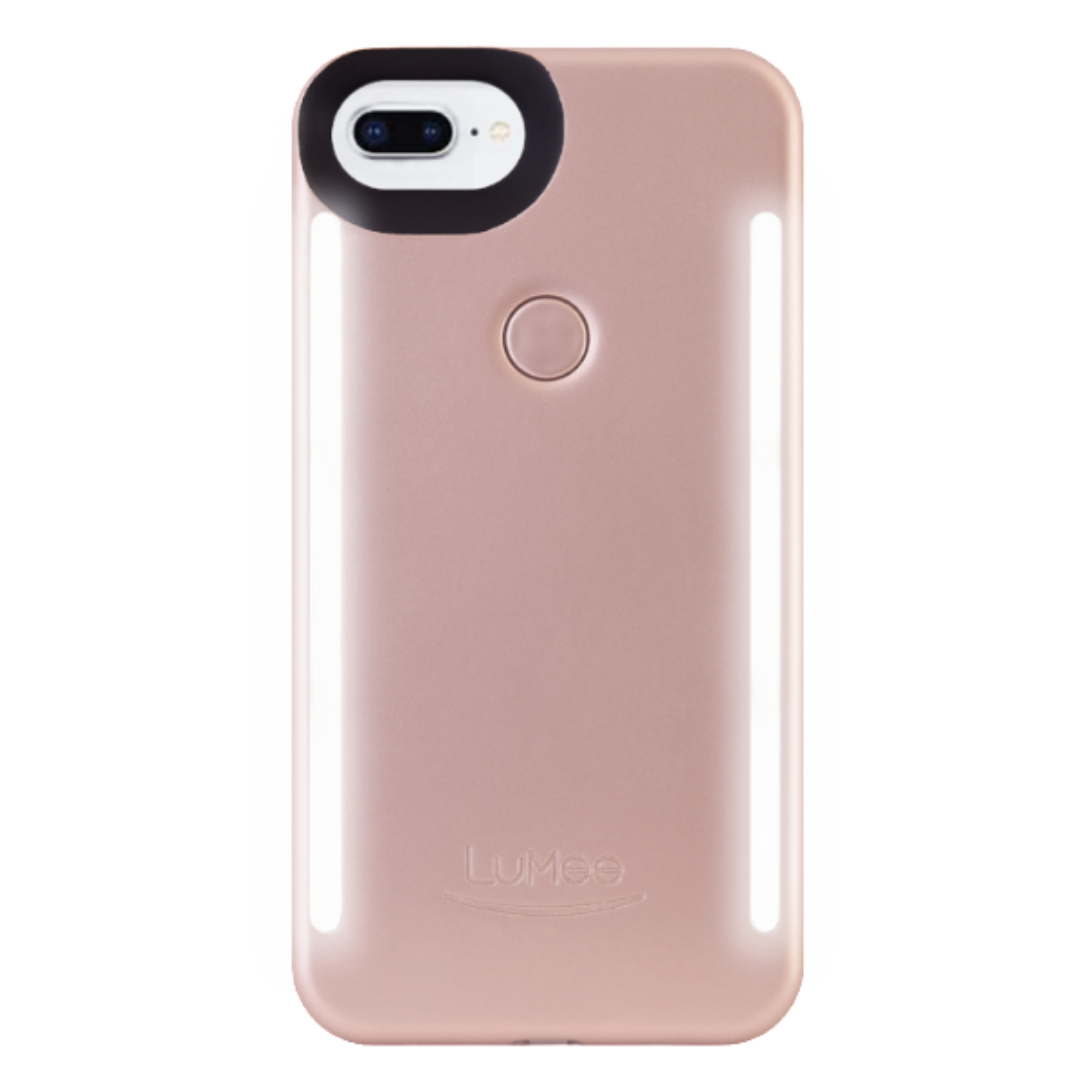 LuMee Duo LED Phone Selfie Case For iPhone 6/6S/7/8 Plus|Soft-Slim-Sleek|Matte Rose
