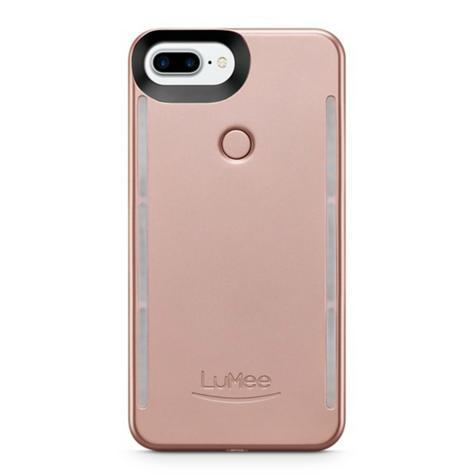 LuMee Duo LED Phone Selfie Case For iPhone 6/6S/7/8 Plus|Soft-Slim-Sleek|Matte Rose Thumbnail 3