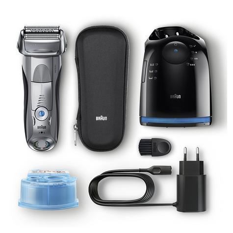 Braun Series 7 7898cc Men's Electric Foil Shaver|Wet/Dry + Clean|Charge Station|Silver| Thumbnail 5
