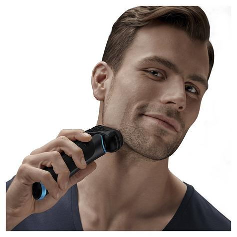Braun Series 9 9240s Men's Electric Rechargeable Foil Shaver|Wet&Dry|Black/Blue Thumbnail 4