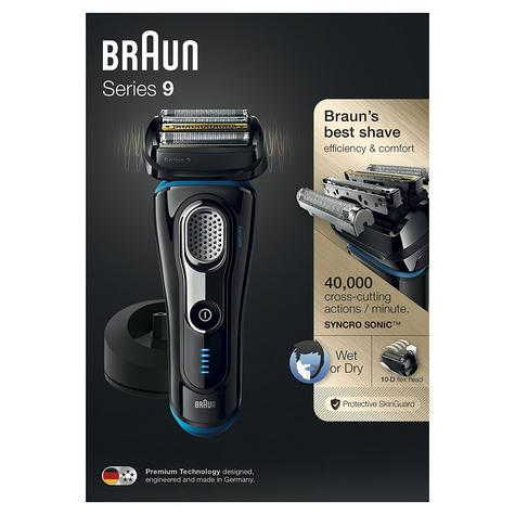 Braun Series 9 9240s Men's Electric Rechargeable Foil Shaver|Wet&Dry|Black/Blue Thumbnail 8