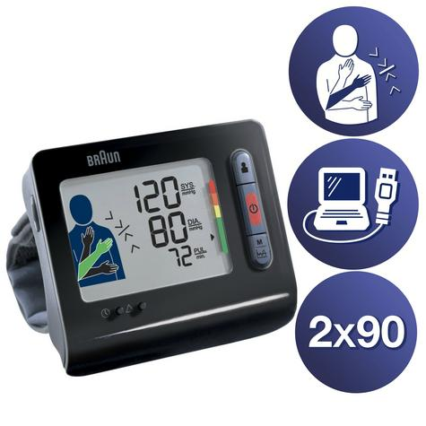 Braun TrueScan 5 Plus Wrist Home Blood Pressure Monitor|Store 180 Measurement| Thumbnail 1