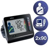 Braun TrueScan 5 Plus Wrist Home Blood Pressure Monitor|Store 180 Measurement|