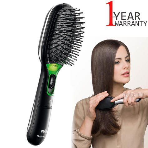 Braun BR710 Satin Hair 7 Women Iontec Hair Brush|Portable|Travel|Battery Powered Thumbnail 1