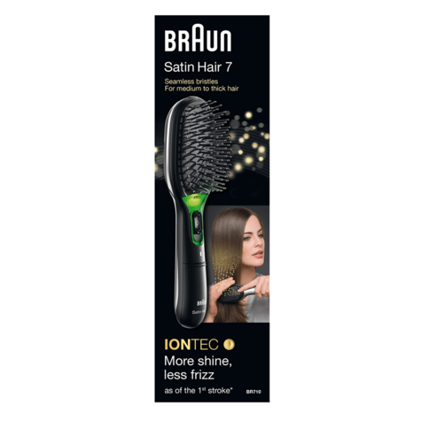 Braun BR710 Satin Hair 7 Women Iontec Hair Brush|Portable|Travel|Battery Powered Thumbnail 3