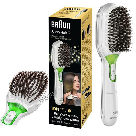 Braun BR750 Satin Women Iontech Hair Brush|Travel|Battery Powered|White|NEW| Thumbnail 1