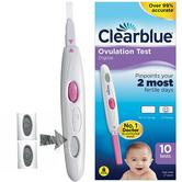 Clearblue Digital Ovulation/Fertility Testing Kit | Pack of 10 | 99%Accurate | CBOBASE