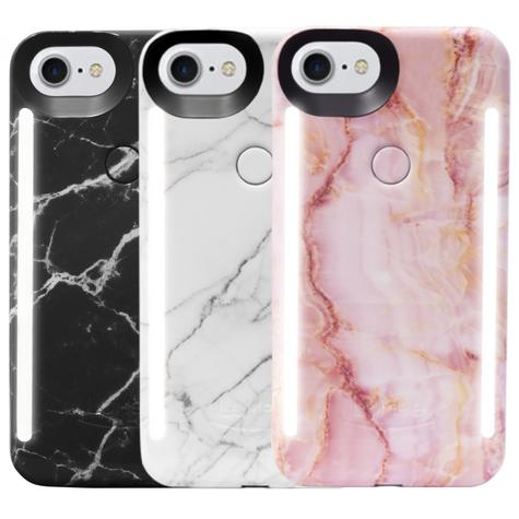 LuMee Duo LED Phone Selfie Case For iPhone 6/6S/7/8|Slim-Sleek|Marble Collection Thumbnail 1
