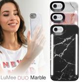 LuMee Duo LED Phone Selfie Case For iPhone 6/6S/7/8|Slim-Sleek|Marble Collection