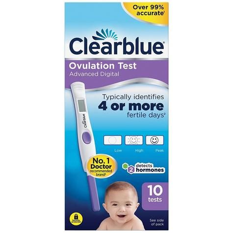 Clearblue Advanced Digital Ovulation Test Kit(OPK) 10Tests | Detects Dual Hormone | Thumbnail 2