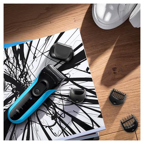 Braun 3010BT Series 3 Shave & Style Mens Shaver|Wet & Dry|Electric Razor Trimmer Thumbnail 4