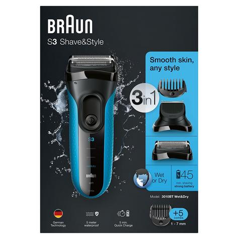 Braun 3010BT Series 3 Shave & Style Mens Shaver|Wet & Dry|Electric Razor Trimmer Thumbnail 7
