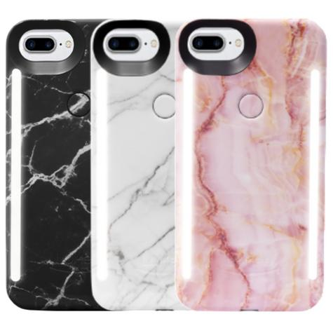 LuMee Duo LED Phone Selfie Case For iPhone 6/6S/7/8 Plus Slim-Sleek Marble Collection Thumbnail 1