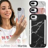 LuMee Duo LED Phone Selfie Case For iPhone 6/6S/7/8 Plus|Slim-Sleek|Marble Collection