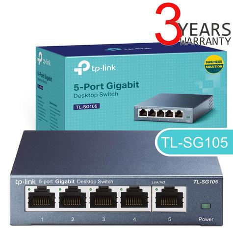 TP-Link TL-SG105|5-Port 10/100/1000Mbps Desktop Switch|Auto-MDI/MDIX|Plug & Play Thumbnail 1