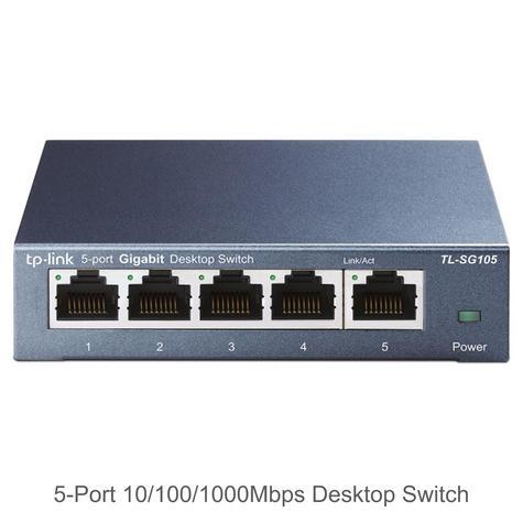 TP-Link TL-SG105|5-Port 10/100/1000Mbps Desktop Switch|Auto-MDI/MDIX|Plug & Play Thumbnail 2