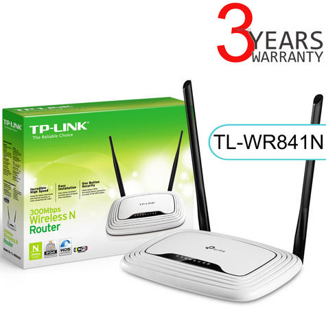 TP-Link TL-WR841N|300Mbps 4-Port Wireless N Router|WPA/ WPA2|IP QoS|Easy Setup Thumbnail 1