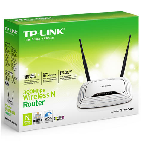 TP-Link TL-WR841N|300Mbps 4-Port Wireless N Router|WPA/ WPA2|IP QoS|Easy Setup Thumbnail 6