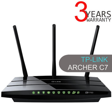 TP-Link ARCHER C7|AC1750 Wireless Dual Band Gigabit Router|802.11ac Wi-Fi|2 USB Thumbnail 1