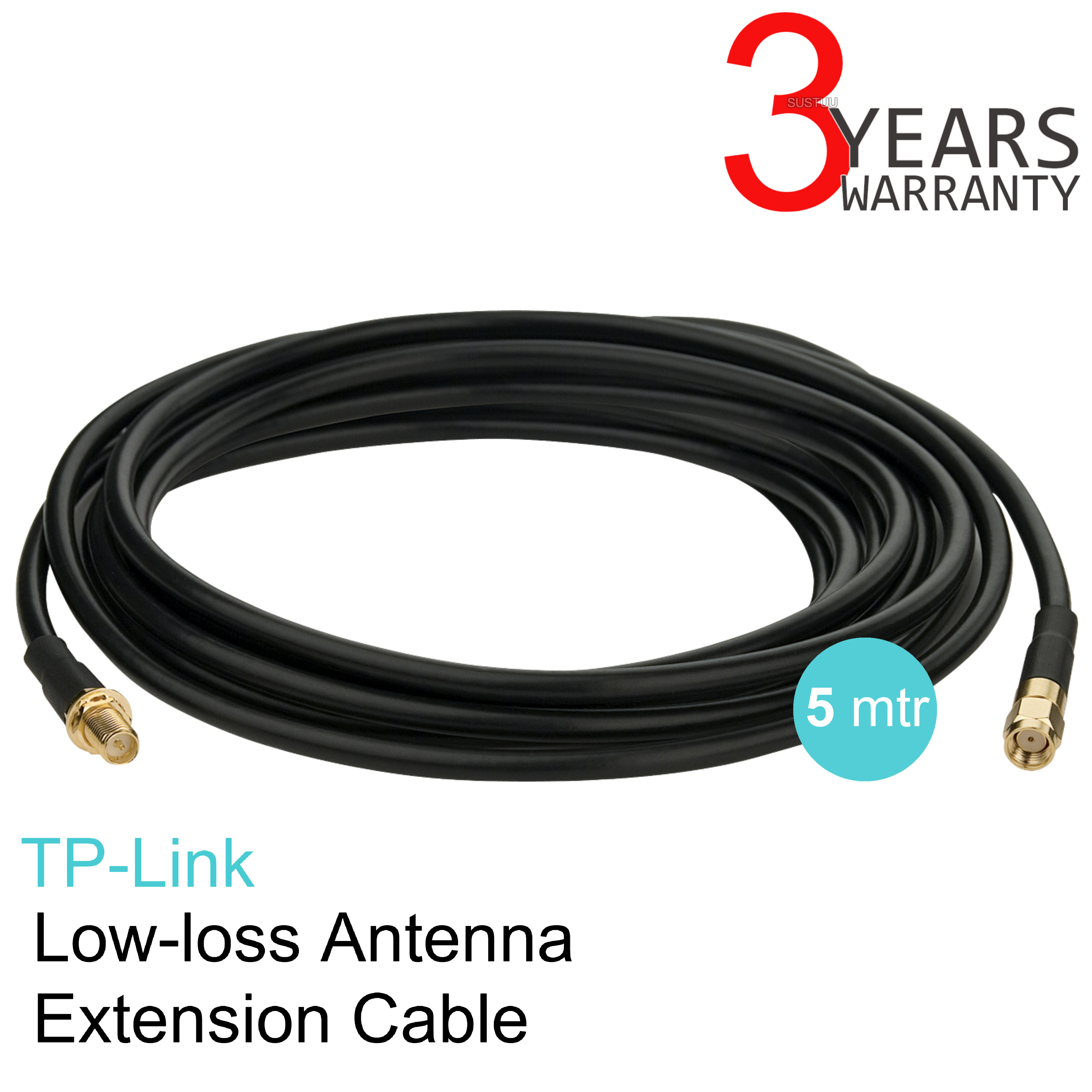 TP-Link TL-ANT24EC5S|Antenna Extension Cable|RP-SMA Male to Female|5 Meters