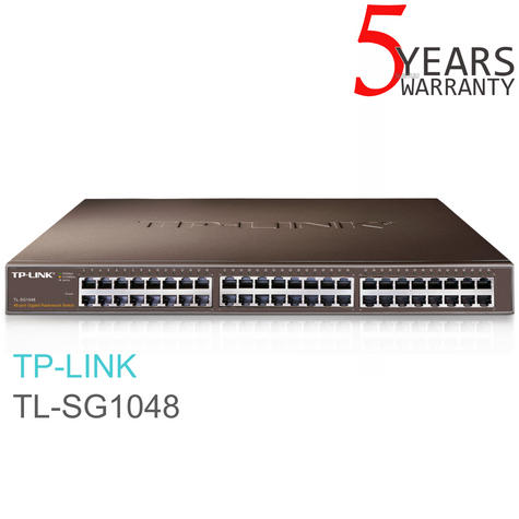 "TP-Link TL-SG1048|48-Port Gigabit 19"" Desktop/ Rackmount Switch