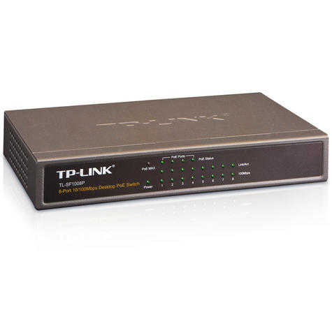 TP-Link TL-SF1008P|8-Port 10/100/1000 Mbps Desktop Switch with 4-Port 15.4W PoE Thumbnail 3