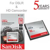 SanDisk 16 GB Ultra Compact Flash CF Memory Card | 50 MB/s | For DSLR & HD Camcorders