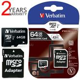 Verbatim 44084 64GB Premium MicroSDHC Memory Card with Adapter|UHS-I/Class 10