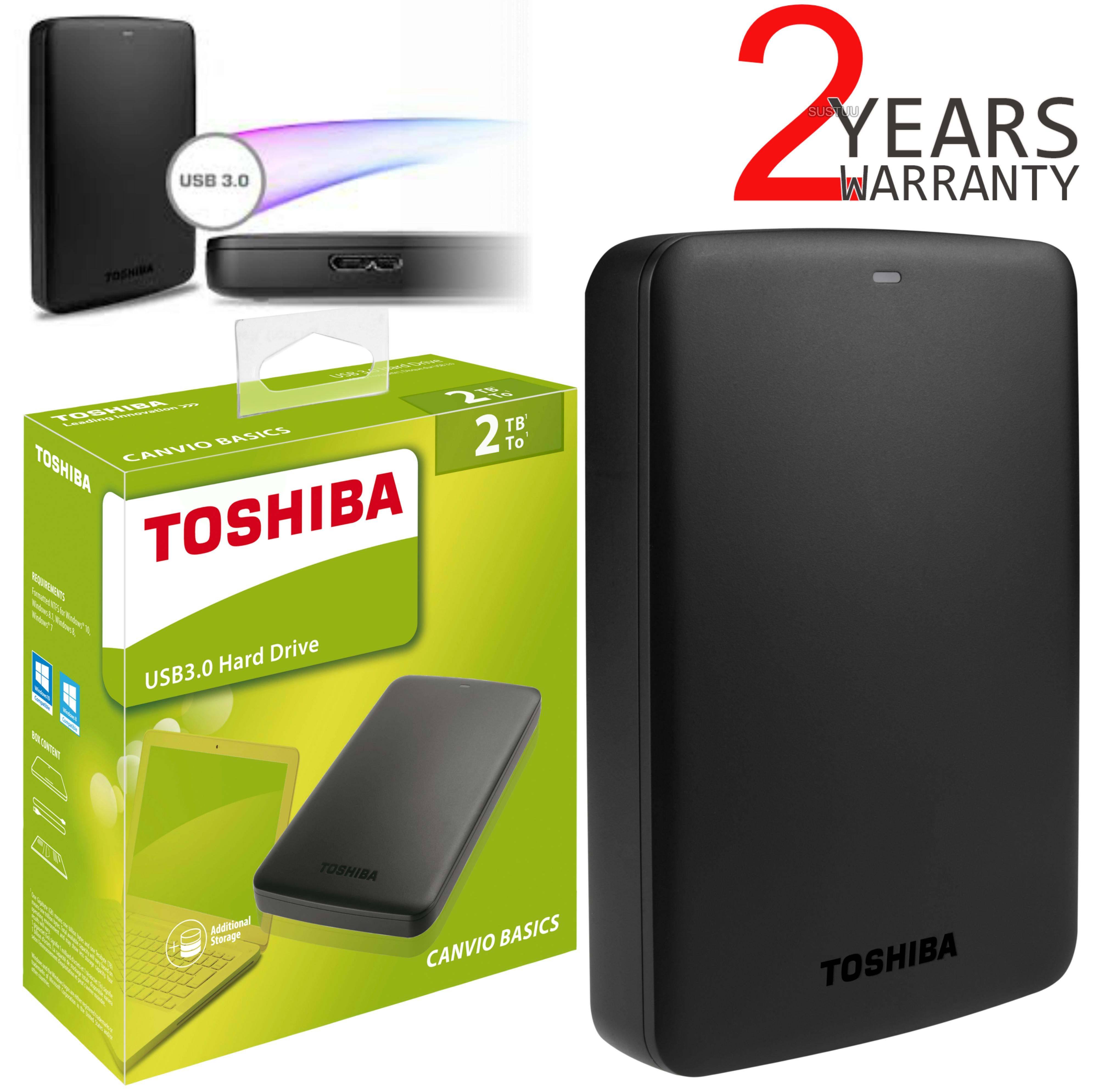 3ba50e7585a4 Toshiba 2TB External Hard Drive|Canvio Basics Portable|High Speed USB 3.0|2.5