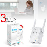 TP-Link 300Mbps Universal Wi-Fi Range Extender with AC Passthrough | TL-WA860RE | White